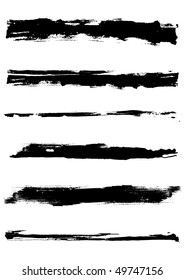 Set of grunge  brush strokes .  Nice grunge elements for your projects.
