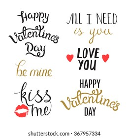 Awesome hand lettering phrases on st stock vector hd royalty free set of hand drawn valentine day phrases lettering elements isolated on white background awesome m4hsunfo