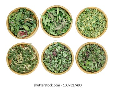 Set of healing herbs. Dry herbs for use in alternative medicine, phytotherapy, spa, herbal cosmetics. Preparing infusions, decoctions, tinctures. Used in powders, ointments, butter, tea, bath