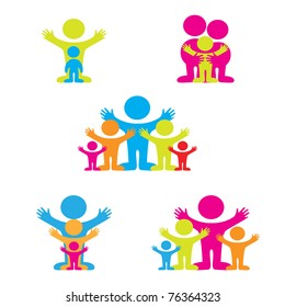 set of icons - the family - Shutterstock ID 76364323