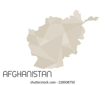 Large Detailed Map Afghanistan Stock Vector 2018 439216699