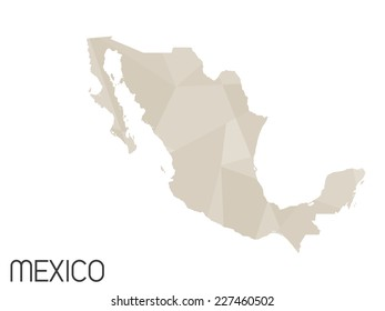 A Set of Infographic Elements for the Country of Mexico