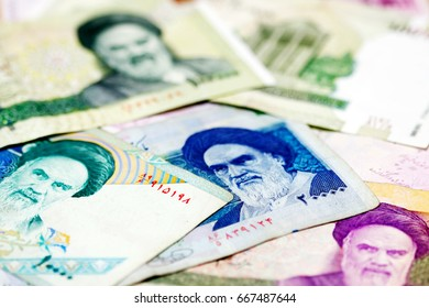 Set of Iranian currencies (rial)