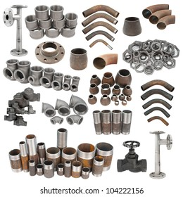 Steel Pipe Fittings Images, Stock Photos & Vectors