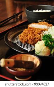 set japanese fried pork