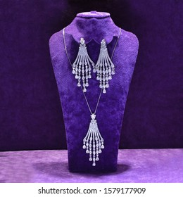 A set of jewelry, beautiful earrings - mannequin necklace