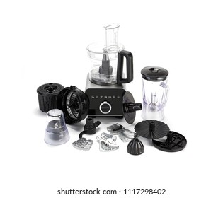 set of juicer elements on white background