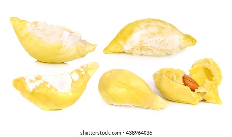 set of King of fruits, durian on white background