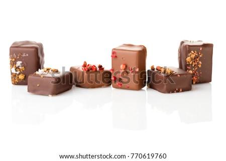 Set Luxury Handmade Bonbons Decorated Szechuan Stockfoto Jetzt