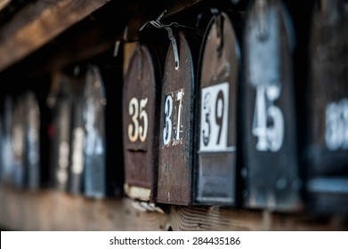 A set of mailboxes.