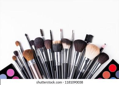 Set of make up tool brushes