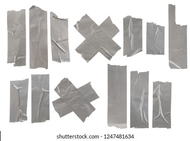 Set of many adhesive tapes isolated on white