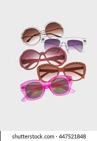 Set of many Trendy sunglasses