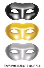 set of masks on a white background (vector version in portfolio)