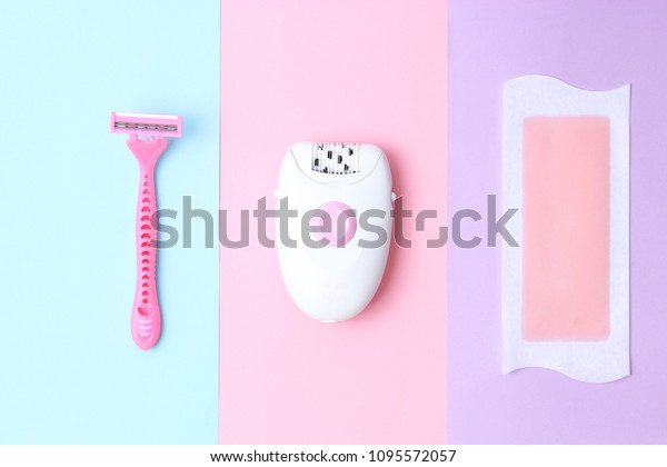 Set Means Hair Removal Wax Strips Stock Photo Edit Now 1095572057