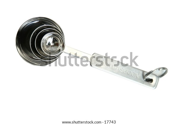 A set of measuring spoons isolated on white with clipping path.