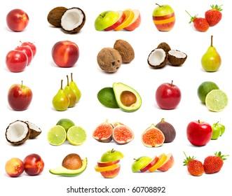 A set of mix fruit