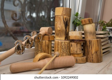 A set of montessori musical instruments