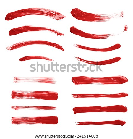 set multiple straight curved oil paint stock photo edit now