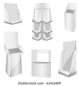 set of new 6 white display