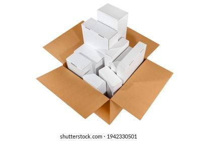 set of new blank cardboard box