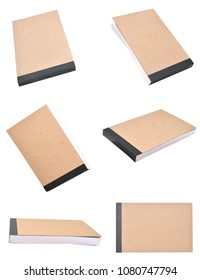 set of note paper pad isolate