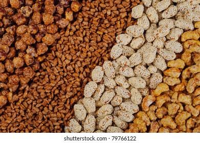 set of nuts in sugar