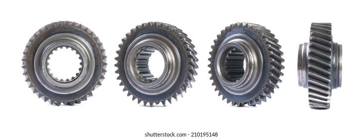 set of old gears