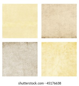 Set of paper backgrounds isolated on white.