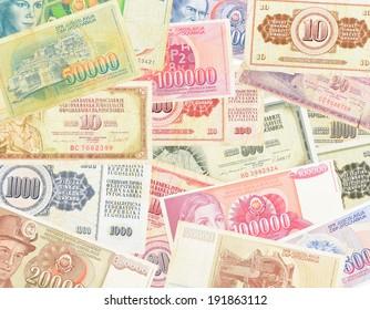 Set of paper money Yugoslavia