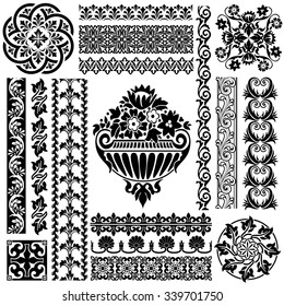 set pattern for classic ornament