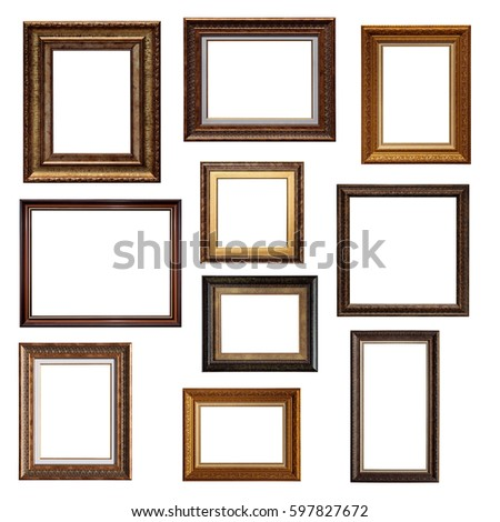 Set Picture Frames Collage Different Canvas Stock Photo (Edit Now ...