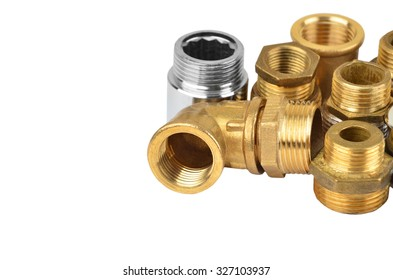 Set of plumbing elements, isolated on white background