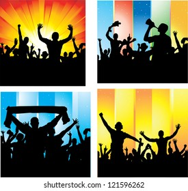Set posters for sports championships and music concerts. Raster version