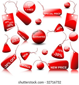 set of price tags - you can use it for any sale time or seasons