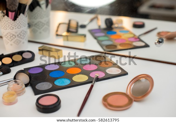 Set of professional make-up cosmetics.