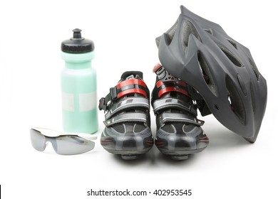set of racing accessories for cycling / sports equipment cycling