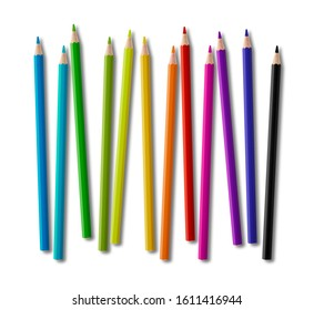 Pencil Crayons and Pens Personalised Stationary Set Pencils