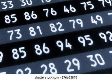A set of random numbers as access codes.