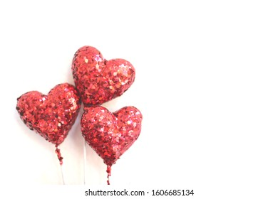 set of red  heart on white background concept of symbol of Love, marriage and Valentine's Day