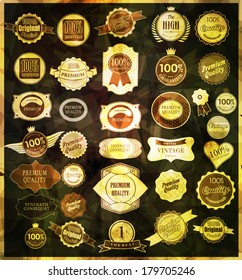 Set of retro vintage labels  and  ribbons.