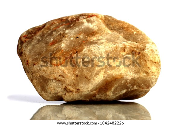 Set Rock stone with names, isolated on a white background with shadow,  beautiful lighting, reflections. Quartz, silica.