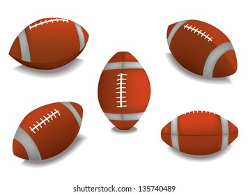 Set of Rugby balls. Its a raster version. Vector search in my portfolio.