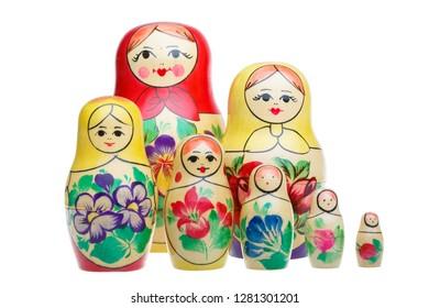 Set of Russian dolls babushka matryoshka