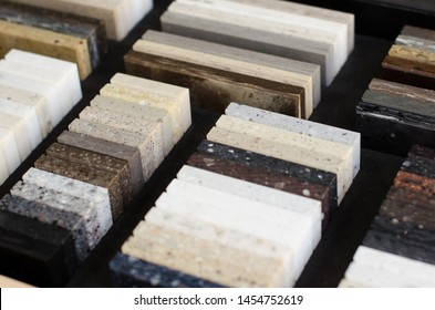 a set of samples of acrylic artificial stone