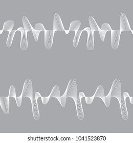 Set of seamless abstract patterns on grey background. Raster version.