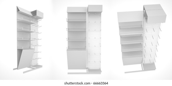 set of shop dispensers. isolated on white