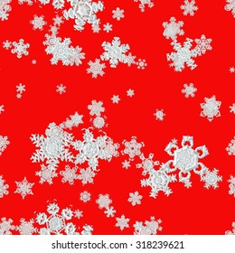 Set of snowflakes isolated background