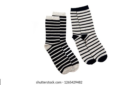 Set of socks, isolate on a white background/ Flat lay/ Top view