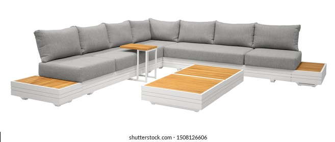 set sofa with cushions. furniture on a white background